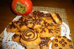 Фото рецепта: «Печенье творожное с помадкой из хурмы»