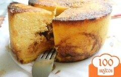 Фото рецепта: «Сырник с ирисками»