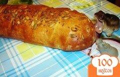 Фото рецепта: «Домашний хлебушек по рецепту Ришара Бертени»