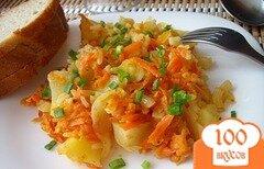 Фото рецепта: «Ленивые голубцы с картошкой»