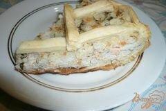 Фото рецепта: «Пирог с консервированной горбушей и рисом»