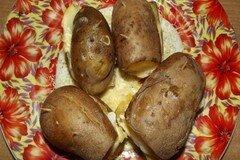 Фото рецепта: «Картофельные сэндвичи с сыром и салом»