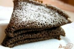 Фото рецепта: «Постные шоколадные блины»