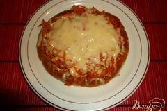 Фото рецепта: «Хрустящая пита с морковью-по корейски и сыром»