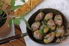 """Фото рецепта: «Молодой картофель """"А-ля салтимбока""""»"""