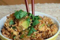 Фото рецепта: «Рис с фасолью и авокадо»