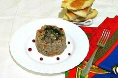 Фото рецепта: «Гречневая каша с рубленным мясом»