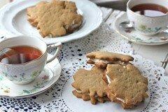 Фото рецепта: «Кленовое печенье-сэндвичи с орехами»