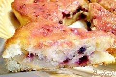 Фото рецепта: «Пирог кефирный с фруктами»