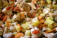Фото рецепта: «Быстрое жаркое из курицы с овощами»