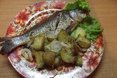 Фото рецепта: «Гарнир из печеного картофеля к речной рыбе»