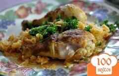 Фото рецепта: «Курица карри с кокосовым рисом»