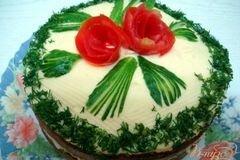 Фото рецепта: «Закусочный торт грибной»