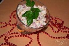Фото рецепта: «Свекольный салат с курицей»