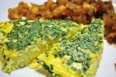 Фото рецепта: «Фриттата с чеддером и зеленью»