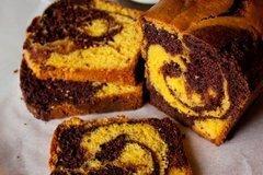 Фото рецепта: «Тыквенно-шоколадный мраморный кекс»