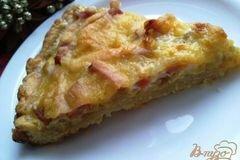 Фото рецепта: «Киш лорен или пирог с луком и ветчиной»