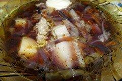 """Фото рецепта: «Лиловый индюшиный суп """"Фиалка""""»"""