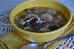 Фото рецепта: «Суп с мясными шариками и булгуром»