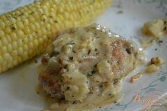 Фото рецепта: «Куриные бедрышки в соусе кремово-горчичном»