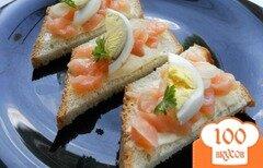 Фото рецепта: «Канапе с семгой и яйцом»