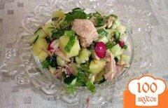 Фото рецепта: «Салат с тунцом и редисом»