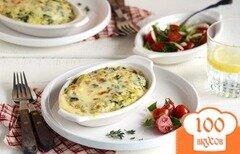 Фото рецепта: «Запеканка с грибами, сыром и шпинатом»