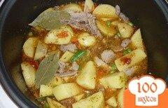Фото рецепта: «Картофель с овощами в мультиварке»
