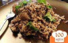 Фото рецепта: «Рис с печенью в мультиварке»