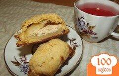 Фото рецепта: «Быстрые творожно- банановые слоечки к чаю»