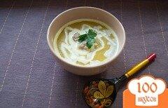 Фото рецепта: «Суп-пюре с брокколи, брюссельской капустой и фрикадельками»