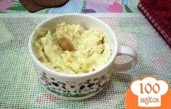 Фото рецепта: «Картофельное пюре со сладким чесноком и козьим сыром»