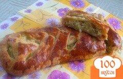 """Фото рецепта: «Пирог """"Косичка"""" с капустой»"""