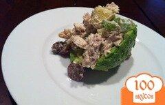 Фото рецепта: «Авокадо фаршированный куриным салатом»