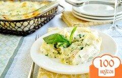 Фото рецепта: «Паста ракушки с песто и курицей»