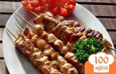 Фото рецепта: «Шашлык из курицы в духовке»