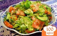 Фото рецепта: «Салат с кунжутными семечками.»