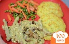 Фото рецепта: «Мясо тушеное с лисичками»