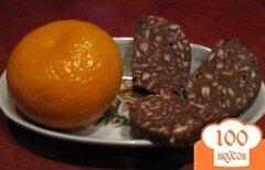 Фото рецепта: «Шоколадная колбаска»