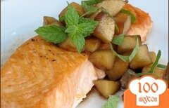 Фото рецепта: «Филе лосося с яблоками»