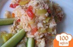 Фото рецепта: «Быстрый плов с курицей и овощами»