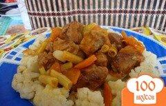 Фото рецепта: «Мясо тушёное с овощами»