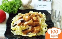 Фото рецепта: «Свинина с грибами в томатно-сливочном соусе»