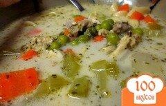 Фото рецепта: «Суп с курицей и лапшой»