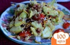Фото рецепта: «Салат с яблоками и авокадо»