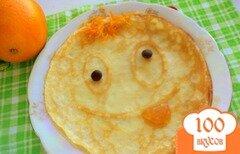 Фото рецепта: «Веселые апельсиновые блины»