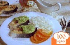 Фото рецепта: «Лосось в зеленой панировке»