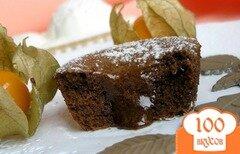 Фото рецепта: «Шоколад в шоколаде с ванильным мороженым»
