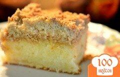 Фото рецепта: «Лимонный кекс с крошкой и лимонным кремом»