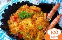 Фото рецепта: «Паэлья с курицей и креветками»